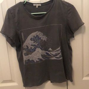 urban outfitters wave graphic tee